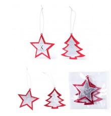 """Set décoration sapin de Noël motifs """"Rimol"""""""
