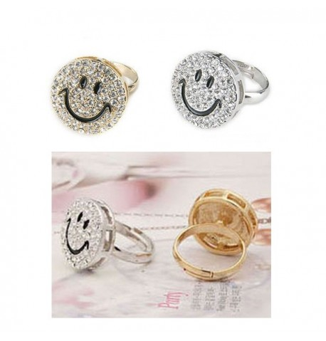 Bague Strass Smiley