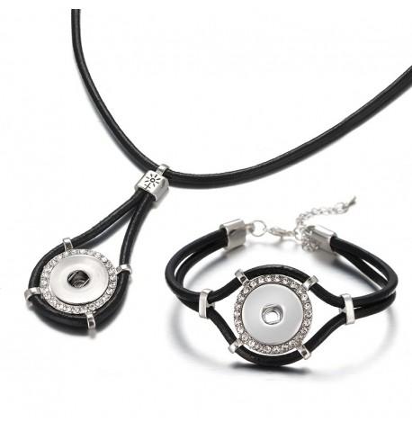 Parure collier et bracelet boutons pression