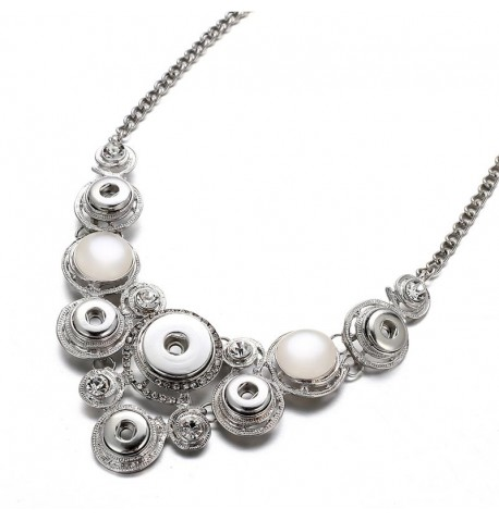 Collier 6 boutons pression et strass