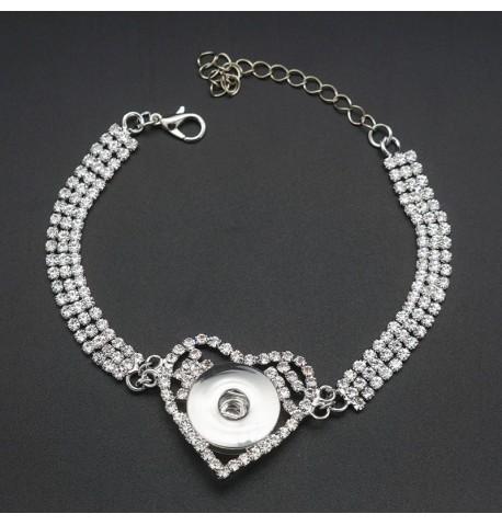 Bracelet bouton de pression strass
