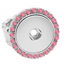Bague strass bouton pression