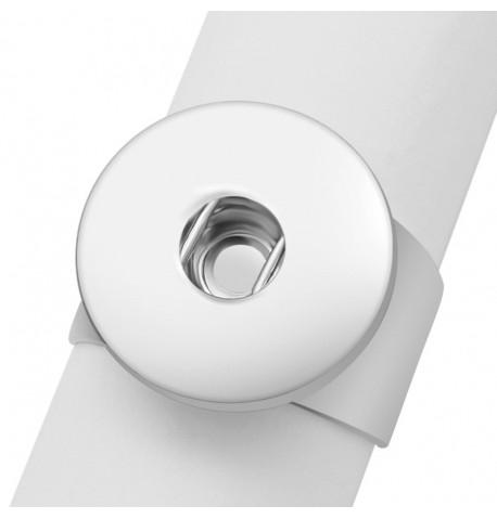 Bague bouton pression large reglable