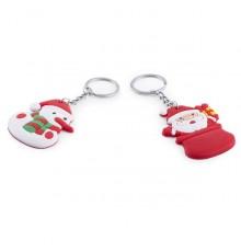 Porte-clés Père Noël et Bonhomme de Neige Tridux