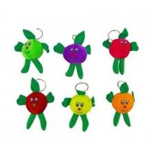 Porte-clés peluche fruit MIX