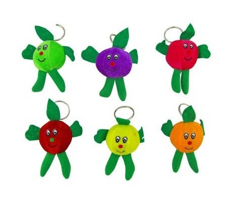 Porte-clés peluche fruit MIX