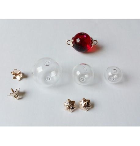 Pendentif en verre double attache à remplir