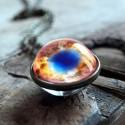 Collier boule en verre Cosmos.