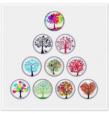 Lot de 10 boutons pression arbre 18mm