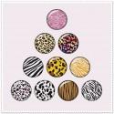 Lot de 10 boutons pression motif animal 18mm