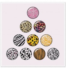 Lot de 10 boutons pression motif animal 18mm