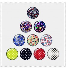 Lot de 10 bouton pression petit pois 18mm.
