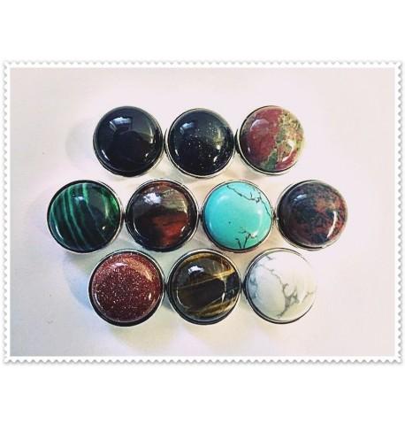 Lot de 10 boutons pression pierres 18mm