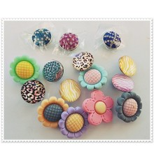 Lot de 15 boutons pression mixte