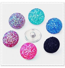 Lot de 10 boutons pression strass 18mm