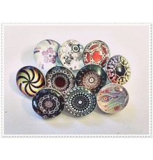 Lot de 10 boutons pression rosaces 18mm
