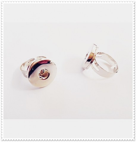 Bague bouton pression simple