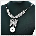 Collier bouton pression Papillons