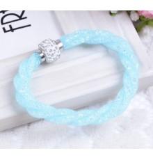 Bracelet strass bleu