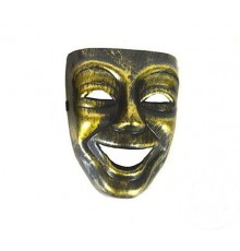 Masque coque souriant Or