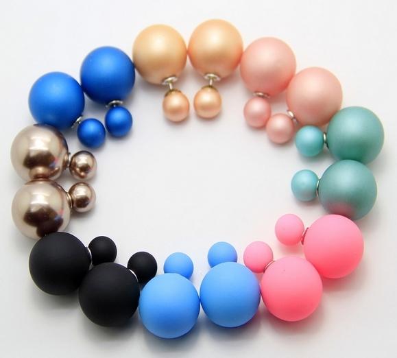 Boucles d'oreilles perles silicone