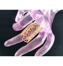 Bague demi-doigt dorée