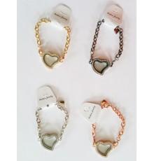 Bracelet avec pendentif coeur personnalisable