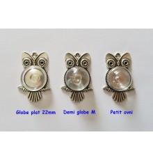 Pendentif hiboux en métal pour globes et cabochons en verre