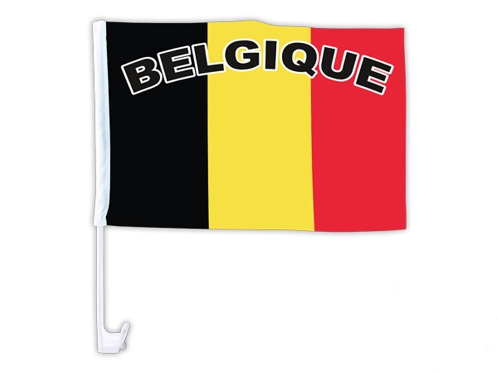 Drapeau pour voiture Belgique