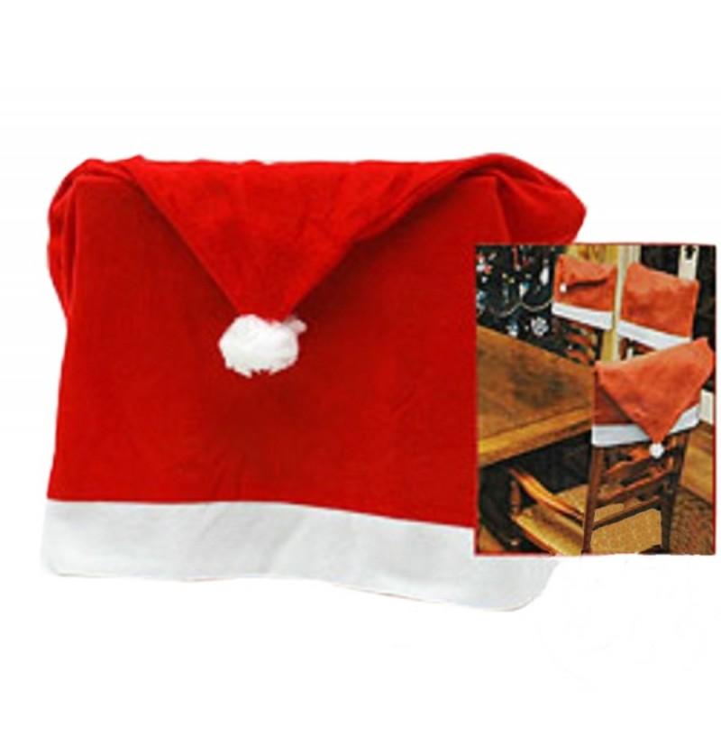 4 housses de chaise no l rouge for Housse de chaise rouge