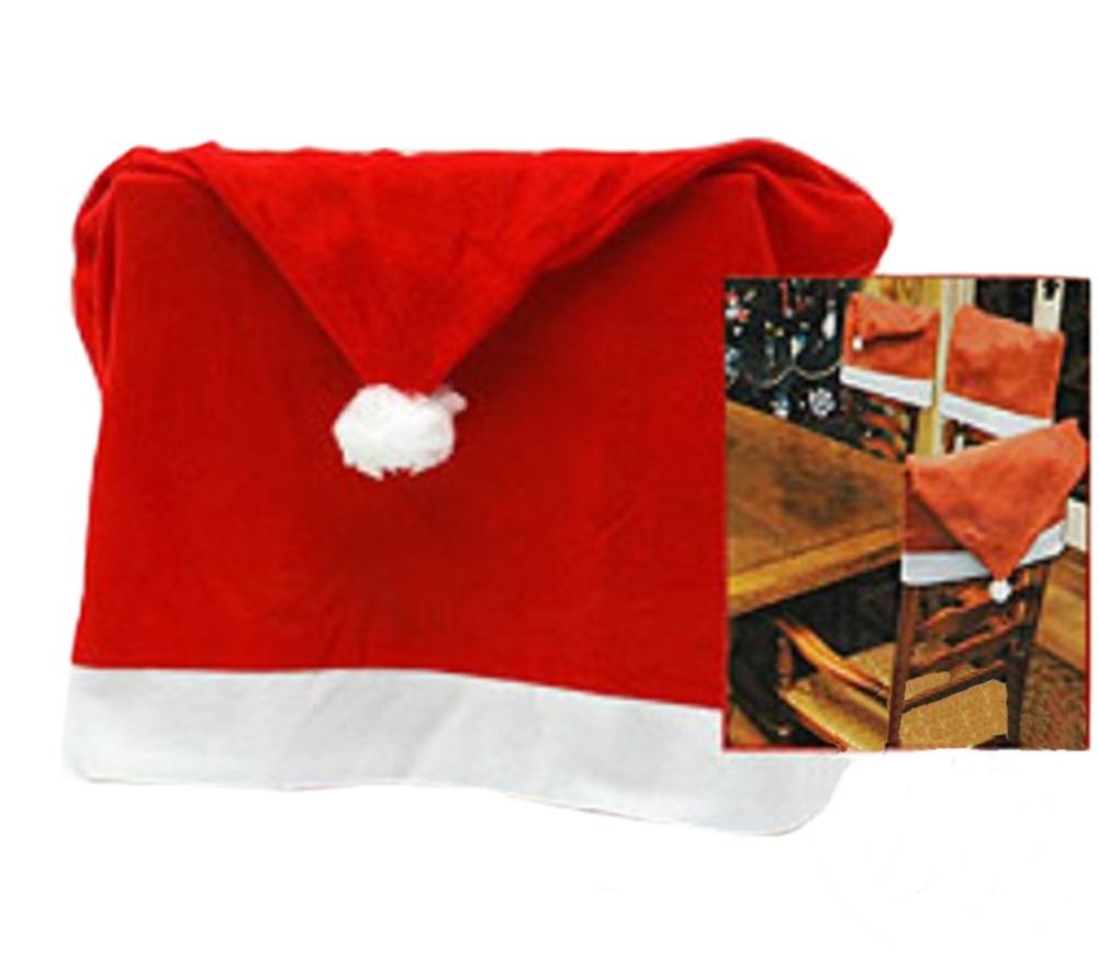 4 housses de chaise no l rouge. Black Bedroom Furniture Sets. Home Design Ideas