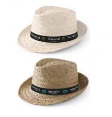 """Chapeau """"Zélio"""" en Paille avec personnalisation sur le bandeau."""