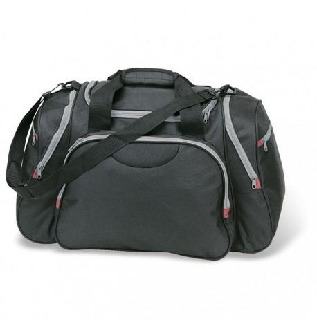 6fd41bb0f4 New Sac de sport ou de voyage de couleur noir avec poches personnalisables