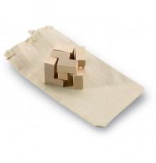 Puzzle en bois  à 7 pièces présenté dans une pochette en coton