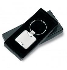Porte-clés en alliage de zinc dans une boîte cadeau noire