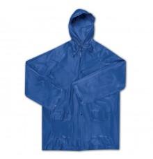 Imperméable en EVA de couleur bleue et transparente