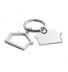 Porte-clés en forme de Maison en Métal