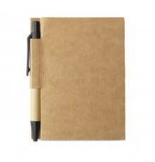 Set Bloc-notes et Stylo en Papier Recyclé