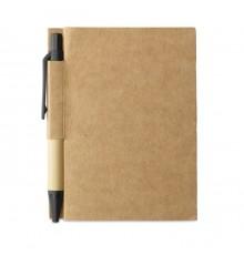 Set Bloc-notes et Stylo en Papier Recyclé