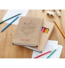 Livre de 15 pages à colorier avec 12 crayons de couleur