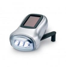 Lampe de poche à alimentation solaire et à dynamo