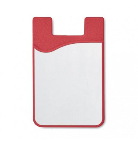 Porte-cartes en silicone pour sublimation de couleur rouge et orange