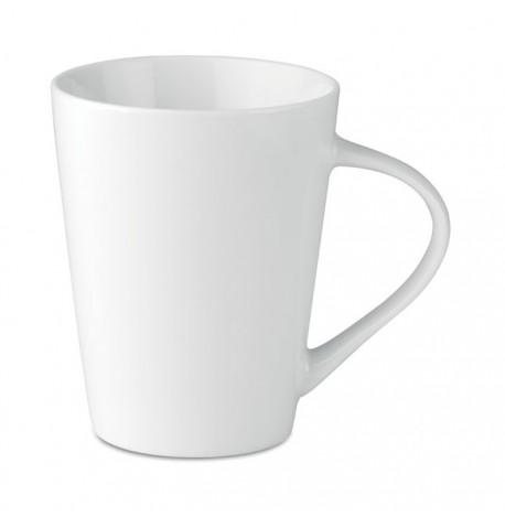 Tasse en porcelaine conique de couleur blanche