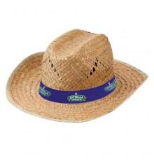 """Chapeau """"Bull"""" en Paille avec personnalisation du bandeau."""