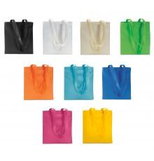 Sac à shopping à 10 couleurs différentes avec de longues poignées