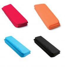 Nappe de siège en nylon de couleur noire, rouge, orange et bleue