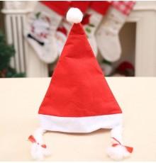 Bonnet de Noël avec Pompon et Nattes de Tailles Différentes