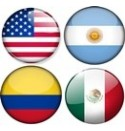 U.S.A, Argentine, Colombie, Mexique