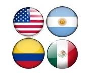 U.S.A, Argentine, Colombie, Mexique