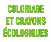 Crayons de couleur et coloriages éco